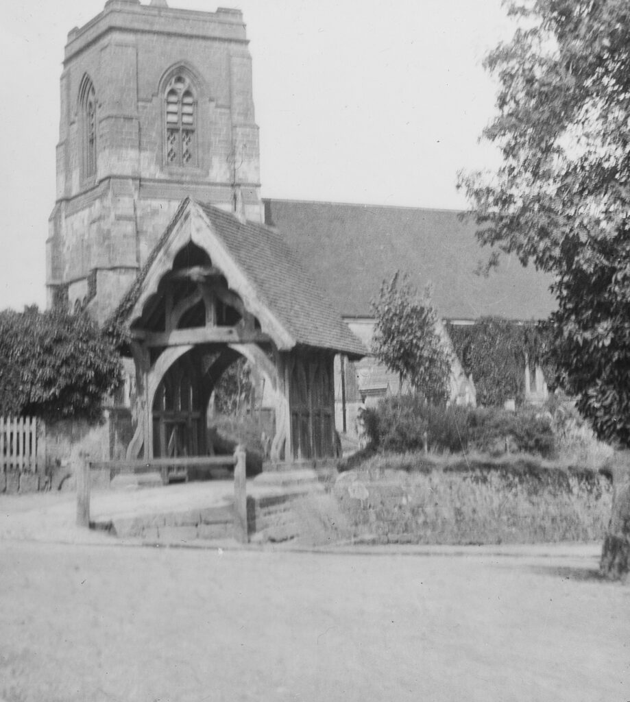 M112-Church-with-tower-and-lychgate